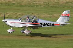 G-MOLA - 2012 build Aerotechnik/Cosmik EV-97 Eurostar, Barton based (egcc) Tags: manchester eurostar barton cityairport ev97 3937 cosmik aerotechnik teameurostar egcb rotax912 gmola