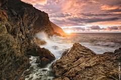 Sunrise (Carlos J. Teruel) Tags: sunrise mar mediterraneo tokina murcia amanecer cielo nubes cartagena rocas marinas d300 xaviersam singhraydarylbensonnd3revgrad carlosjteruel polarizadorlee105