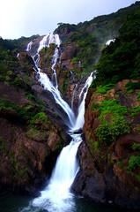 Dudhsagar Water Falls ($udhakar) Tags: longexposure camping fall nature water trekking waterfall pentax iso400 goa scenic waterfalls weekendtrip hpc westernghats f20 13s dudhsagarwaterfalls justpentax wwwsudhakarcom smcpda1645mmf40edal pentaxk5 oct2012 greennary