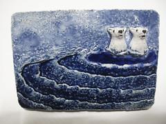 Polar bears (danahaneunjeong) Tags: ceramic doll polarbear polar