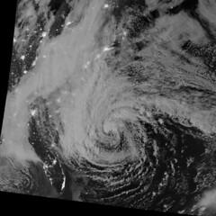 Hurricane Sandy Viewed in the Dark of Night