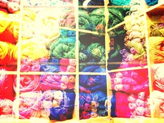 Double-exposed Iceland 14 (andreakw) Tags: iceland knitting doubleexposure reykjavik lopi popcamera woolshop
