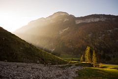 Last Light (Tobias Knoch) Tags: autumn light orange brown alps green yellow canon stars eos schweiz switzerland mark iii herbst l 5d rays usm tobias 1740mm 1740 appenzell seealpsee knoch