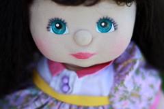 Charlotte (Duchess Ravenwaves) Tags: floral vintage toy 80s abc brunette aussie mattel crimp aquaeyes mychilddoll