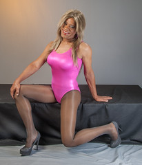 Leotard Love! (kaceycd) Tags: pumps highheels tgirl bodysuit stilettoheels pantyhose crossdress spandex lycra tg leotard stilettos wetlook platformheels sexypumps platformpumps stilettopumps