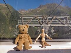 Caesar and Woody taking the easy way up (Galtr - W3) (Jackie & Dennis) Tags: austria tirol tyrol ischgl paznaun silvrettabahn