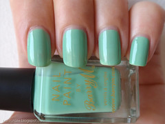 Barry M Mint Green - shade (Nailz Craze) Tags: green swatch mint nails nailpolish nailart mintgreen swatches barrym nailswag nailzcraze