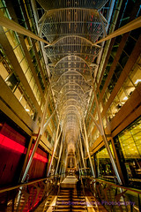 Brookfield Place (Fulcrum imaging Robert Greatrix) Tags: city longexposure urban toronto colors architecture night stairs buildings mall photography evening colorful long exposure downtown arch bright photos sony perspective malls sigma arches ceiling lobby explore slowshutter exploration citycenter galleria 1224 copyrighted metropoliton sigmalens torontophotographer sonycameras sonyshooter robertgreatrixphotography robertgreatrix