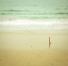 Solitude {Explored} (Mara T Pons) Tags: ocean summer man beach walking alone shore atlanticocean canaryislands solitudewater verano2012