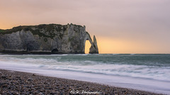 Sunset Falaises d'Etretat (Explored) (Olivier Henguelle) Tags: sunset 6 mer seascape pose sony tripod etretat falaises nex longue 18200mm