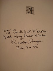 "RONALD REAGAN SIGNED BOOK, '92 • <a style=""font-size:0.8em;"" href=""http://www.flickr.com/photos/51721355@N02/8365082257/"" target=""_blank"">View on Flickr</a>"