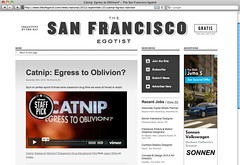 The San Francisco Egotist - Catnip: Egress to Oblivion?