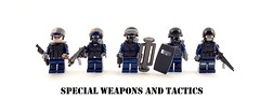 SWAT (Hammerstein NWC) Tags: bw police elite tiny operators swat sidan brickarms brickforge specialweaponsandtactics tinytactical eclipsebricks citizenbrick brickwarriors
