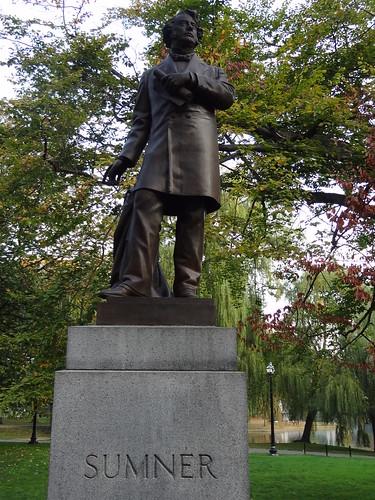 IWalked Boston's Public Garden - Charles Sumner Statue