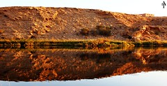Reflection . . . (ATFotografy) Tags: sea sky brown house mountain reflection green window water grass canon eos canal rocks flickr saudi arabia saudiarabia wadi blye 600d at namar flickraward atfotografy