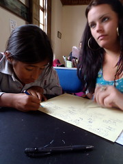 Miss Kinsey's Class (The Travelin Chicks) Tags: trip travel school vacation southamerica girl kid quito ecuador student child drawing working culture adventure backpacking volunteering local nina traveling draw brunette homework volunteer backpacker studying schoolwork traveler kinsey ecuadorian traveladventure travelinchucks kinseyosborn travelinchicks
