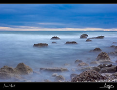 Sea Mist (SVA1969) Tags: sea sky cloud water mar agua rocks mediterranean himmel cielo nubes infinito rocas mediterrneo seamist infinit largaexposicin mittelmeer longexpposure blinkagain brumamarina
