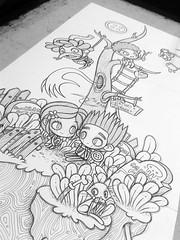 WIP Paranorman/Coraline/Laika (Anita Mejia) Tags: black illustration pen ink neil norman laika ilustracion bic coraline chocolatita wybie anitamejía paranorman