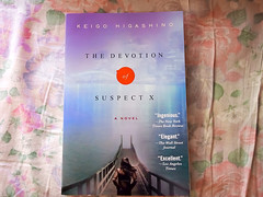 The devotion of suspect X by Keigo Higashino (Impossible Astronaut) Tags: flowers roses stilllife book olympus novel bookcover