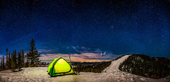 winter camping on aspen mountain (tmo-photo) Tags: travel camping winter night stars outdoors colorado glow tent moonrise skis aspen milkyway tmophoto