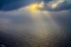 IMG_5494 - Sunlight on Ocean (JacksonTStewartPhotography) Tags: ocean sea sun sunlight reflection water beautiful clouds scenery scenic rays cloudporn sunporn