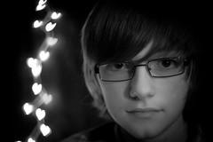 Jacob (jessica.tucker77) Tags: boy portrait white black love fun 50mm serious bokeh creative son dslr faithful homestudio glasseslowkey