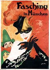 Carnival in Munich (1930) (Susanlenox) Tags: music woman art vintage germany advertising poster dance kunst performance carnaval musik fasching plakat reklame