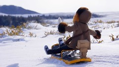 Sled down! 5 (nines_graphics) Tags: winter sunrise skyscape landscape doll danboard