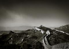 Great Wall of China, Beijing, China (HutchSLR) Tags: china black monochrome canon ancient asia chinese beijing 7d greatwallofchina mygearandme hutchslr