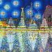tel aviv skyline naive painting by raphael perez sky line of telaviv city israeli modern artist young painter