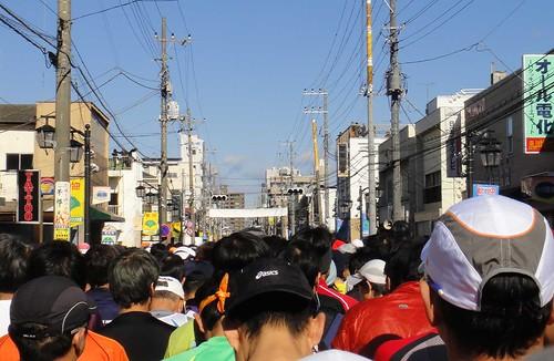 勝田全国マラソン スタート直前