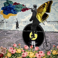 Moving Sound (Flamenco Sun) Tags: butterfly pennyfarthing victoriana yellowsubmarine sixties psychedelic psych