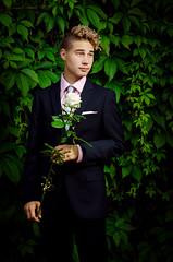 A time for a party (Mikko Vuorinen) Tags: ihmiset meviart mikko wilho kuvaus perhe rippijuhlat rippikuva vuorinen graduation portrait man young suit people