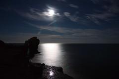 Moonlight (Sarah Marston) Tags: moonlight clouds portlandbill dorset pulpitrock sea night sony alpha a65 august 2016