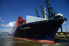 E.R. Tianping DST_4304 (larry_antwerp) Tags: ertianping 9305489 rickmers psaterminal container europaterminal antwerp antwerpen       port        belgium belgi          schip ship vessel        schelde