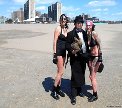 Dr. Takeshi Yamada and Seara (Coney Island Sea Rabbit) visited the Coney Island Polar Bear Club at the Coney Island Beach in Brooklyn, New York on April 3 (Sun), 2016. mermaid. merman.  20160403Sun DSCN4911=4035-3027C. Mj Moscowitz. Laura Simon (searabbits23) Tags: searabbit seara takeshiyamada  taxidermy roguetaxidermy mart strange cryptozoology uma ufo esp curiosities oddities globalwarming climategate dragon mermaid unicorn art artist alchemy entertainer performer famous sexy playboy bikini fashion vogue goth gothic vampire steampunk barrackobama billclinton billgates sideshow freakshow star king pop god angel celebrity genius amc immortalized tv immortalizer japanese asian mardigras tophat google yahoo bing aol cnn coneyisland brooklyn newyork leonardodavinci damienhirst jeffkoons takashimurakami vangogh pablopicasso salvadordali waltdisney donaldtrump hillaryclinton polarbearclub