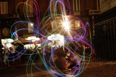 1 (Enrico Rispoli) Tags: juggling light painting piazza san domenico napoli