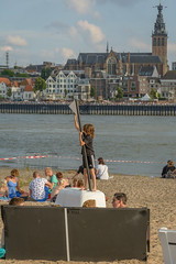 flag (stevefge (away for a few days)) Tags: 2016 nijmegen stadseiland zomerfeesten reflectyourworld nederland netherlands nederlandvandaag boys children kinderen kids beach rivers water skyline family girls
