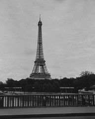 Tour Eiffel - 2016 (Nicolas) Tags: paris france tourism tourisme mood ambiance nicolasthomas pont bridge birhakeim nb bw ilford lc29 rapidfixer busch pressman 4x5 largeformat grandformat contrast contraste wollensak raptar vintage camera collection collectible tour eiffel symbol symbole patrimoine monument visit visite