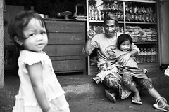 The Joker (Carbonell Icon) Tags: 5dmiii canon5dmiii 2015 canon man love portrait indonesia street father city flickr bw photography streetphotography daughter blackandwhite ubud black pose flash bokeh bali expressive