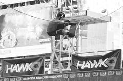 Skateboarder Legend .... Tony Hawk .... Dundas Square, Toronto, Ontario, Canada (Greg's Southern Ontario (catching Up Slowly)) Tags: tonyhawk monochrome blackandwhitephotography sportsphotography skateboarder vertskateboarding skateboarderlegendtonyhawk dundassquare toronto nikon nikond3200