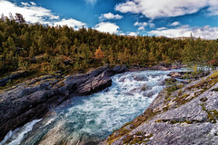 Early autumn (Usstan) Tags: autumn d750 2470mm oppland serene water mountains outdoor clouds norway seasons locations river norge colors sky landscape lens sigma nikon sjk no
