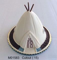 M01583 (merrittsbakery) Tags: cake shaped tipi teepee native american oklahoma indian culture