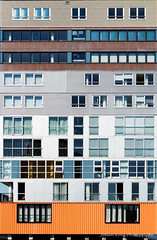 Silodam (In Explore 2016-08-21) (Johan Konz) Tags: apartment building offices publicspaces silodam amsterdam ijriver netherlands architecture outdoor abstract nikon d90 vertical storeys geometry