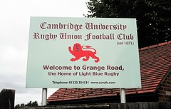 At the University Rugby Club (Guy Marriott)