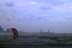 A windy day at the beach (lindaouwehand) Tags: beach strand windy wind sailor windzeilen scheveningen nature sea katwijk holland
