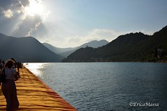 The Floating Piers - Christo, Iseo Lake, 2016 (EricaMassa15) Tags: christo artist art arte floating piers thefloatingpiers lake iseo iseolake lago diseo lagodiseo passerella water blue blu christoandjeanneclaude christojeanneclaude sun sunset light lights luce sole