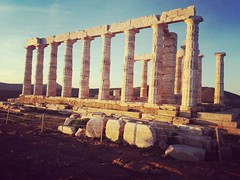 Enjoying the #sunset @ #Poseidon's #Temple in #Sounion! #Athens #visitGreece #travel #August #loveGreece #visitAthens #instaGreece #travelGreece #instatravel #travel_Greece #greeksummer #summerinGreece #summerholidays #summertime # (Athens Walking Tours) Tags: greece travel vacation holidays