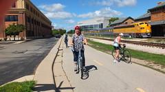 (sfrikken) Tags: lynne linda madison bike bicycle southwest commuter trail path train station
