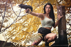 Slvia (RubenTeles) Tags: woman beautiful beauty sexy female model tomb raider lara croft gun portrait portugal